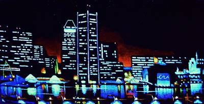 Baltimore By Black Light Original by Thomas Kolendra