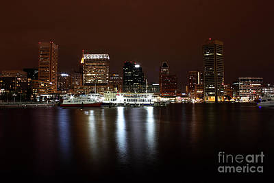 Baltimore Inner Harbor Art Print by Val Armstrong