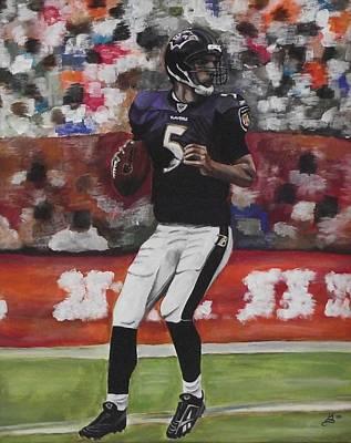 Baltimore Ravens Joe Flacco Art Print by Kim Selig