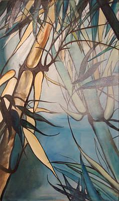 Painting - Bamboo 2 by Karen Hurst