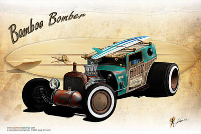 Digital Art - Bamboo Bomber by Doug Schramm