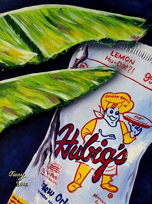 Painting - Banana Leaf Series-hubigs Pie by Terry J Marks Sr