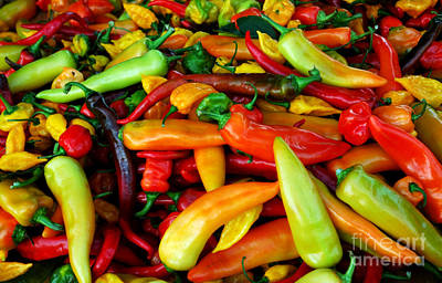 Banana Peppers At The Farmers Market Art Print by Thomas R Fletcher