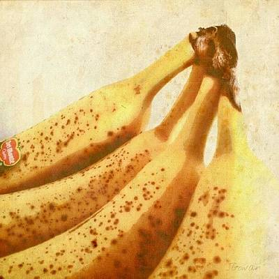 Healthy Wall Art - Photograph - Bananas. #bananas #banana #yellow by Jess Gowan