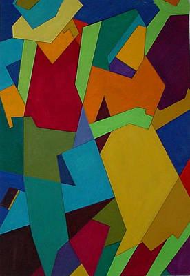 Merengue Painting - Bandoleros by John Crespo Estrella