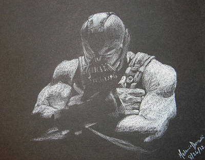 The Dark Knight Drawing - Bane by Melanie Domzalski