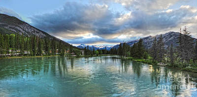 Banff And The Bow River - 01 Art Print by Gregory Dyer