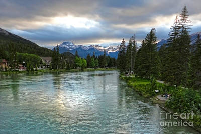 Banff And The Bow River - 02 Art Print by Gregory Dyer