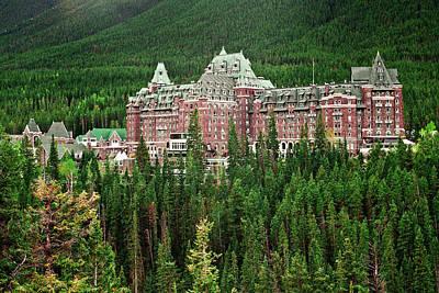 Banff Hotel 1607 Art Print by Larry Roberson