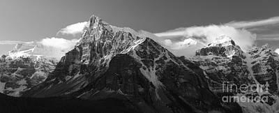 Banff Mountain Range Art Print