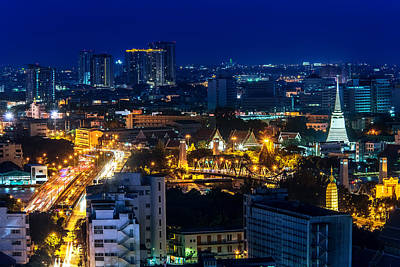 Photograph - Bangkok Nightscape by Arthit Somsakul