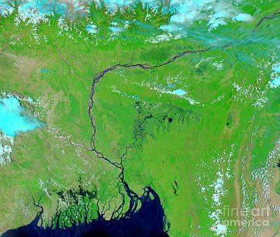 Flooding Photograph - Bangladesh by Nasa