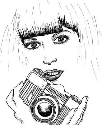 Bangs And Camera Art Print by Karl Addison