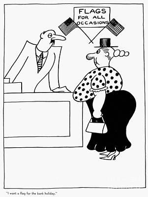 Bank Holiday Cartoon, 1933 Art Print