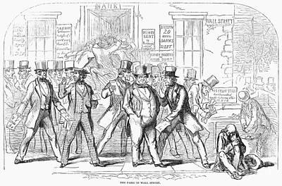 Bank Panic, 1857 Art Print