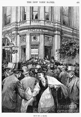 Bank Panic, 1890 Art Print