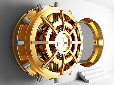 Bank Vault Door 3d Art Print by Gualtiero Boffi