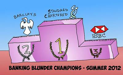 Financial Mixed Media - Banking Blunder Champs Of 2012 by OptionsClick BlogArt