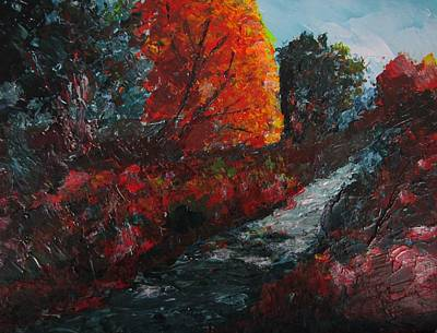 Painting - Banks Of The Creek by Don Hutchison