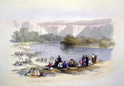 Banks Of The Jordan, 1839, Lithograph Art Print by Everett