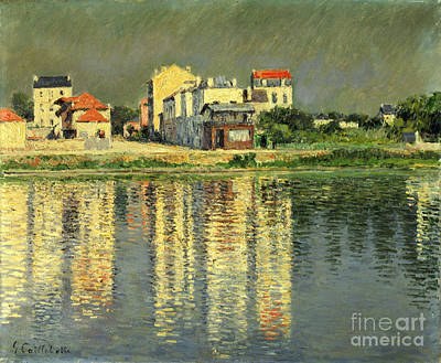 Seine River Wall Art - Painting - Banks Of The Seine At Argenteuil by Gustave Caillebotte