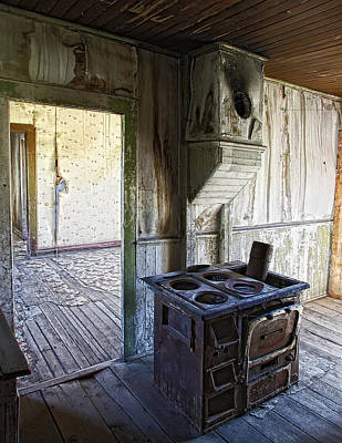 Gunslingers Photograph - Bannack Ghost Town Kitchen Stove 2 by Daniel Hagerman