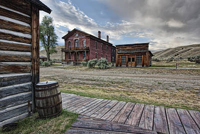 Bannack Ghost Town Photograph - Bannack Ghost Town Mainstreet 2 - Montana by Daniel Hagerman