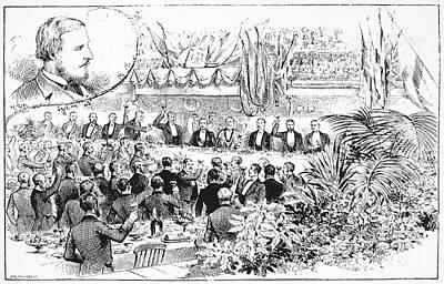 Raj Photograph - Banquet, 19th Century by Granger