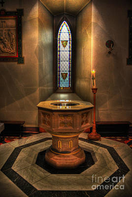 Photograph - Baptismal Font - St Barnabas Cathedral Nottingham by Yhun Suarez
