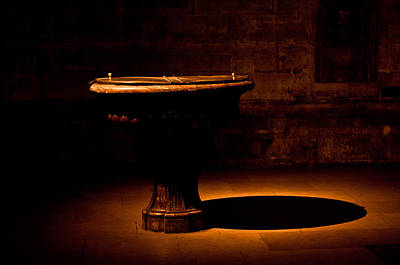 Church Fixture Photograph - Baptismal Font by Evelyn Peyton