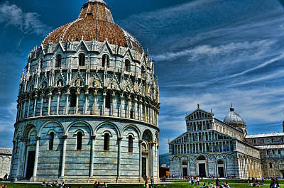 Baptistry Photograph - Baptistry And Cathedral Pisa Italy by Jon Berghoff