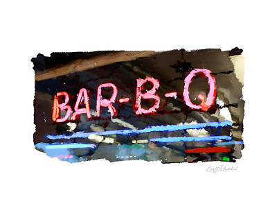 Bar-b-q Art Print by Geoff Strehlow