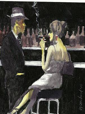Bar Fly  15 Art Print by Harry WEISBURD
