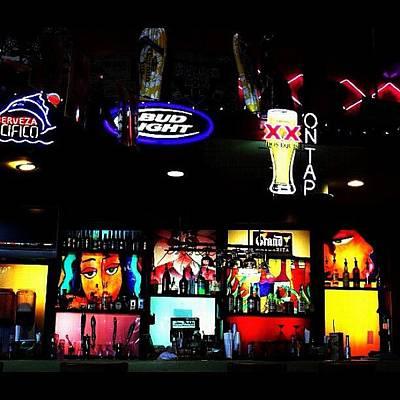 Wall Art - Photograph - #bar #neon #lights by Jen Hernandez