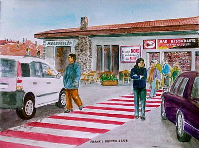 Bar Ristorante Mt. Etna Sicily Art Print by Frank Hunter