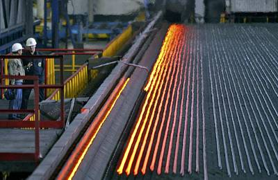 Bar-rolling Mill Processing Molten Metal Art Print by Ria Novosti