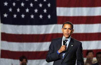 Barack Obama At A Public Appearance Art Print by Everett