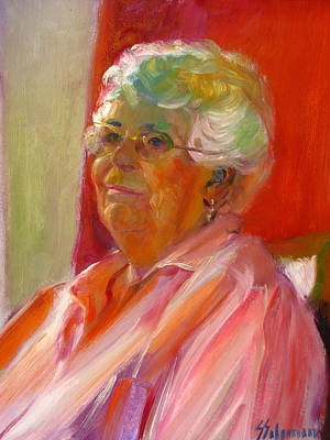 Painting - Barbara K. Portrait by Sid Solomon