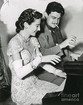 Photograph - Barbara Stanwyck And Preston Sturges by Photo Researchers