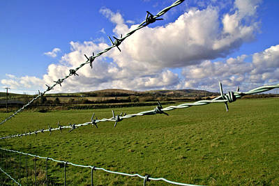 Barbed Wire Cloud Art Print by Lee Rees