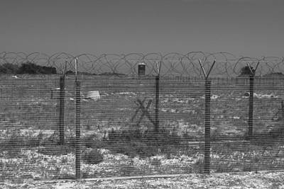 Photograph - Barbed Wire Fence by Aidan Moran