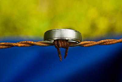 Wedding Band Photograph - Barbed Wire Wedding Band by Douglas Barnett