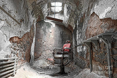 Infamous Photograph - Barber - Chair - Eastern State Penitentiary by Paul Ward