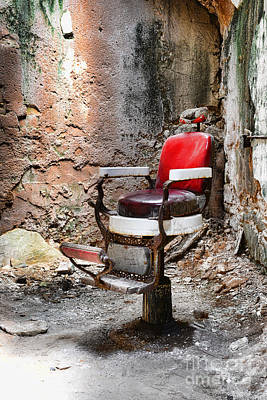 Barber Chair Print by Paul Ward