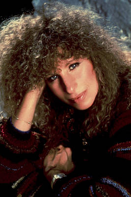 1980s Portraits Photograph - Barbra Streisand In Columbia Records by Everett