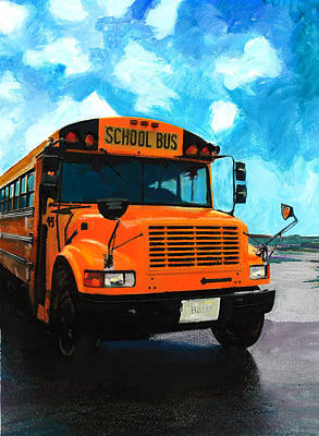 Painting - Barb's Bus by Mary C Haneline