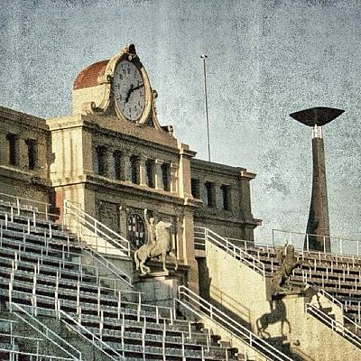 Sports Photograph - Barcelona - Olympic Stadium by Joel Lopez