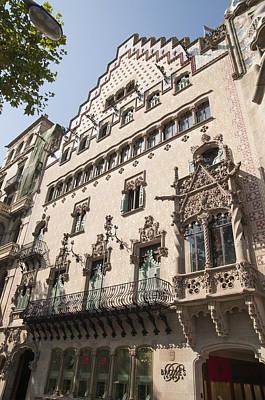 Photograph - Barcelona Casa Amatller Building by Matthias Hauser
