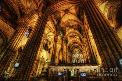 Photograph - Barcelona Cathedral  by Yhun Suarez