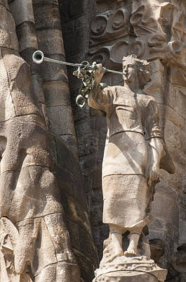 Antoni Gaudi Wall Art - Photograph - Barcelona Church Sagrada Familia Nativity Facade Detail by Matthias Hauser